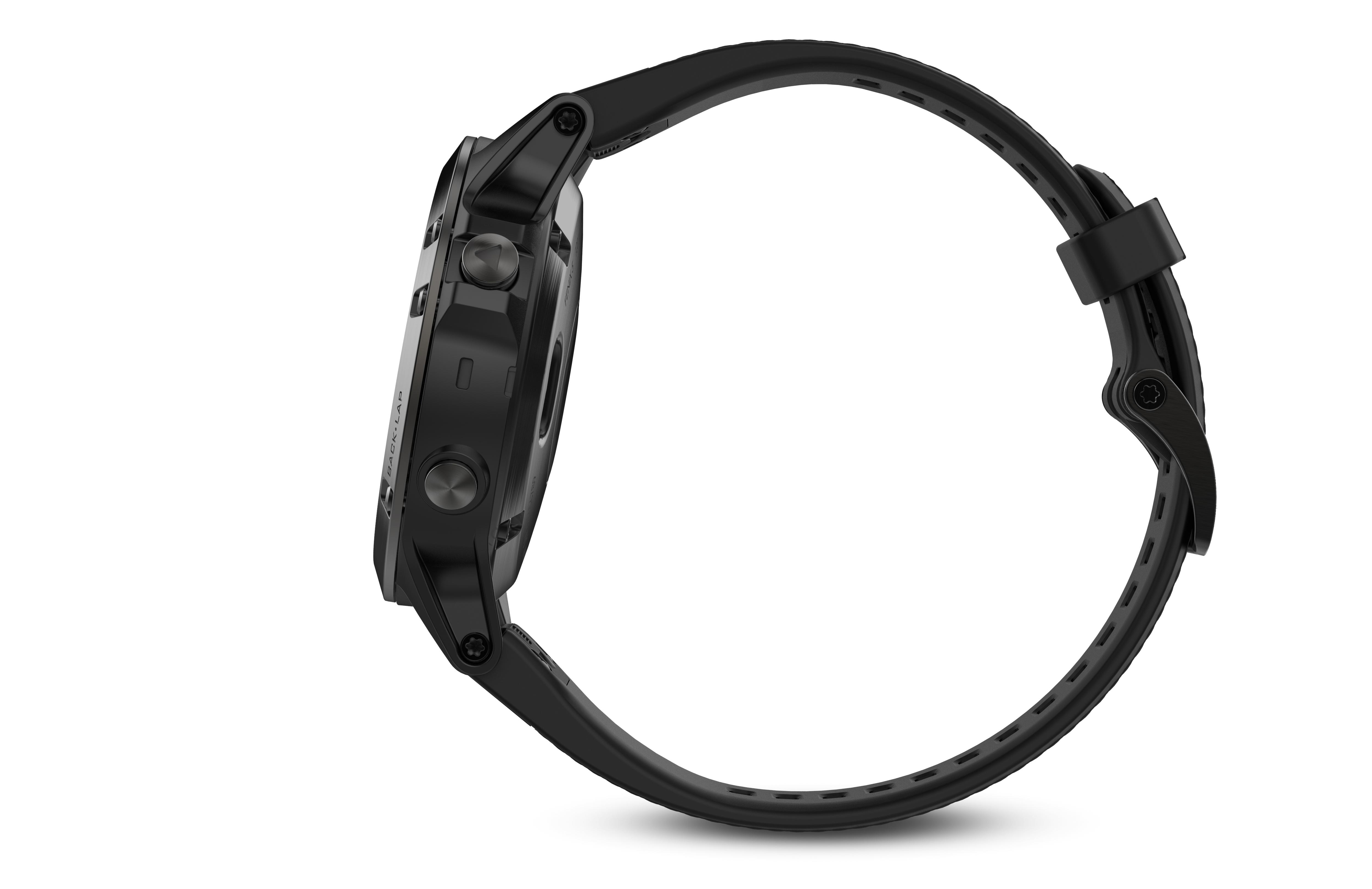 Fenix 5 Sapphire black met zwarte band