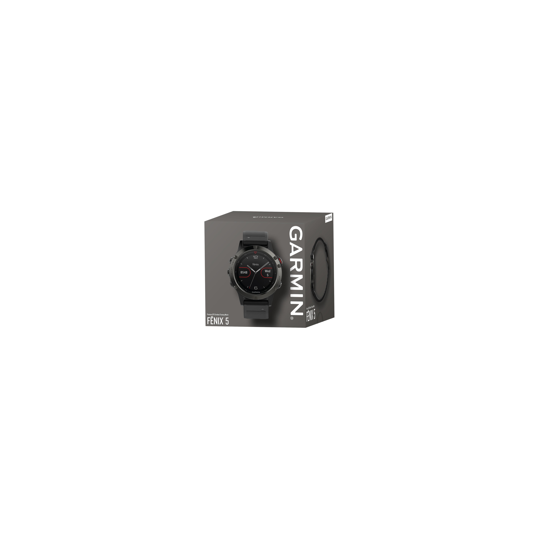 Garmin Fenix 5 Leisteen grijs met zwarteband