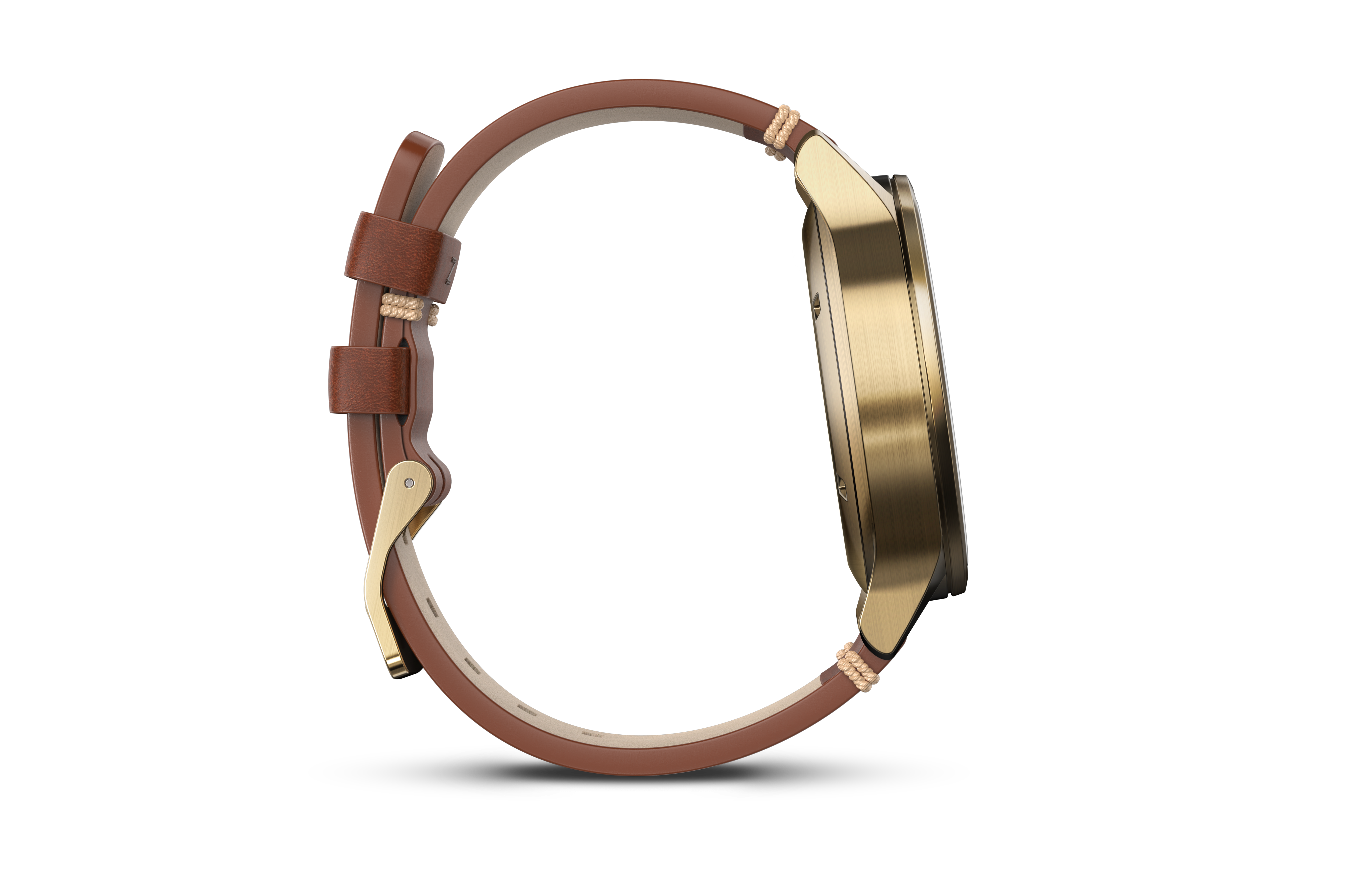 Garmin vivomove goud staal met lederen band